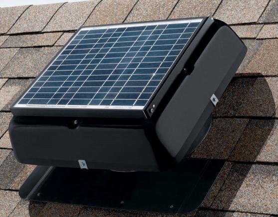 Solar roof exhaust fan