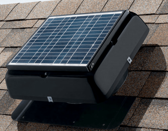 Solar roof exhaust fan