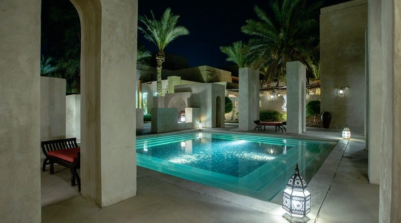 Fire pit to your swimming pool area